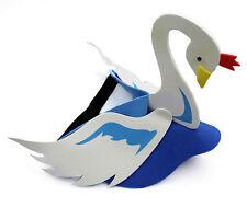 Swan Animal Bird Zoo Farm Safari Foam Party Costumes Fancy Dress Visor Hat Cap