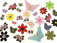 20 MIXED Iron On Stick, Sew On Fabric Motifs, Craft, Sewing, Embroidery Patches