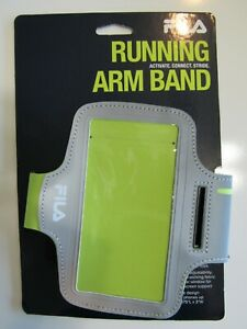 """Fila Unisex  Running Arm Band Holds Phones up to 6.375""""L x 3""""W New"""