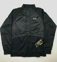 Under Armour Mens Large Pick Up Pace Black Coldgear Full Zip Jacket NWT $110