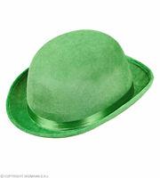 GREEN ADULT ST PATRICK BOWLER HAT FANCY DRESS ACCESSORY