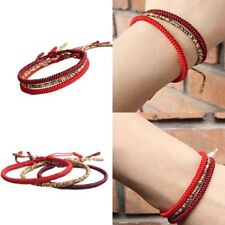 Handmade Lucky Bracelets Bead Red String Woven Bracelets Charm Jewelry Gift .hc