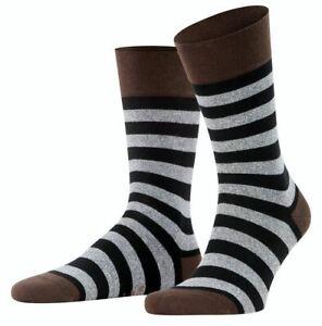 Falke Mens Sensitive Mapped Line Socks - Henne Brown/Grey