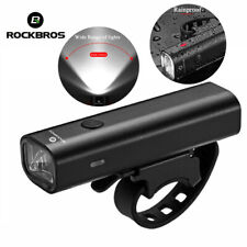 ROCKBROS Bike Front Light 400 Lumens Head Light Lamp USB Rechargeable LED Light