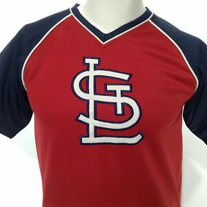 TRUE FAN Genuine Merchandise Youth Boys 12-14 ST. LOUIS CARDINALS JERSEY Red STL