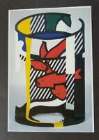 """Roy Lichtenstein """"Goldfish Bowl"""" II Mounted off-set Color Lithograph 1983"""
