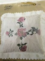 Pink Roses Pillow Kit 80188 Candlewicking UNOPENED Candamar Designs Discontinued