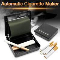 Automatic Cigarette Tobacco Rolling Machine Metal Roller Box Case Tin Up Black