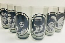 Vintage 1979 Set 6 Arby's Collector Series of Glass Tumblers Early Movie Stars