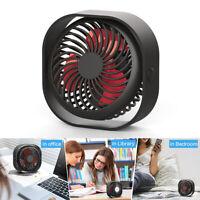 Mini USB Desktop Fan Portable Fan 3 Speeds with 2000mAh Battery Rechargeable