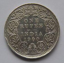 1900 British India Silver 1 Rupee Coin - Victoria Empress -  OLD Rare