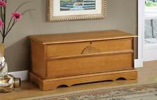 Oak Wood Finish Locking Cedar Lined Storage Chest by Coaster 4695