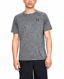 Under Armour Tech T-Shirt Men's Black Pitch Gray Sportswear Top Activewear Tee