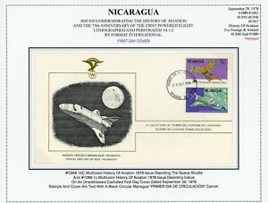Nicaragua Aviation History Specialized: Scott #1089 & C946 Cacheted FDC $$$