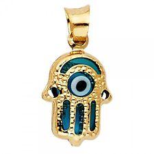 14K Yellow Gold Evil Eye Hamsa Pendant GJPT1718