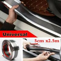 5CM*2.5M Car Sticker Carbon Fiber Rubber Door Sill Protector Edge Guard Strip