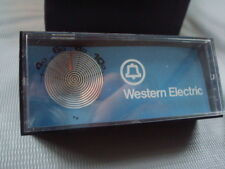 Nice vintage Western Electric telephone plastic triangular thermometer 3-d box