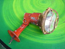 Mid Century Safety Cage Old Industrial Wall Lamp Vintage Chic Chippy Paint