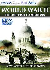 WORLD WAR II CAMPAIGNS NEW 3 DVD BLITZ D DAY ARNHEM NORMANDY BATTLE OF BRITAIN #