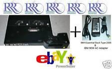 IBM Lenovo ThinkPad Essential Port Replicator Type 2505 AC T60 T61 T400 R60 Z61