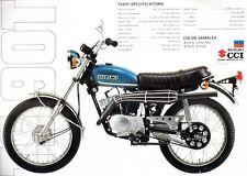 1971 SUZUKI TS90T SALES SPECS AD