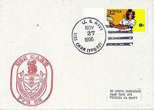 USS Carr FFG 52 MISSILE teleguidato Fregata Marina Militare cartolina 27 NOVEMBRE 1995