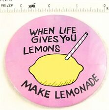 "Vintage ""When Life Gives You Lemons Make Lemonade"" Pinback Button"