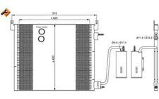 NRF Condensador, aire acondicionado OPEL VECTRA SAAB 9-3 9-3X CADILLAC BLS 35741