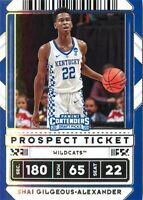 Shai Gilgeous-Alexander 2020-21 Contenders Draft Picks Prospect Ticket Card #39