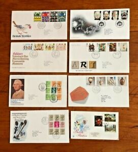 x 8 GB FDC First Day Covers Art, British Painters, Folklore, Terror, Textiles,