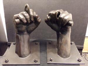 David Parvin FIST Original Unique Bronze sculpture Artist Commision Hand Signed