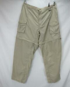 Columbia PFG Convertible Zip Cargo Pants/Shorts Khaki Men's 2XLT - Waist 40
