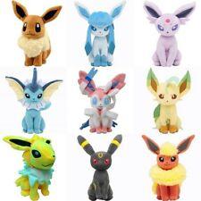 Set 9 Pokemon Eevee Evolution Plush Dolls Eeveelutions Flareon Vaporeon Jolteon