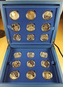 The Queens 2012 Diamond Jubilee, Ltd Edition, 18 Proof Coins Collection complete