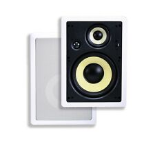 8 Inches 3-Way High Power In-Wall Speaker (Pair) - 100W Nominal, 200W Max