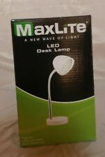 MaxLite LED Desk Lamp Matte White With USB Port Non Dimmable NEW