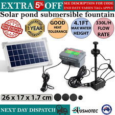 Solar Pond Pump Submersible Water Pump Fountain With LED Light & Battery 3.5W
