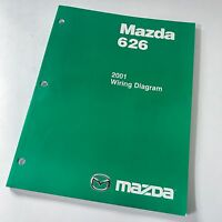 2001 Mazda 626 Factory OEM Wiring Diagram Workshop Repair Manual