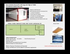 CONTAINER HOME WITH 2-GAS STOVE KITCHENETTE/SHOWER/TOILET