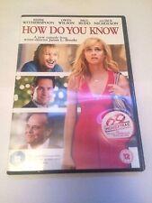 How Do You Know (DVD, 2011) region 2 uk dvd