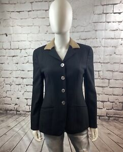 Vintage Dolce & Gabbana Womens Size 40 Button Down Blazer Jacket Made In Italy