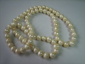 String of Extremely Large Genuine Freshwater Pearls.