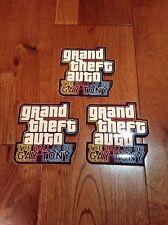 Grand Theft Auto Ballad Of Gay Tony x3 Lot Rockstar Games LOGO Sticker New Rare