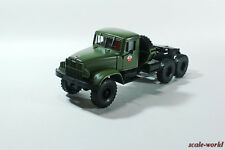 KrAZ-214В 6X6 truck tractor Soviet car industry 1:43