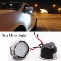 2xNo Error Car Side LED Under Mirror Puddle Light For Ford Edge Mondeo Explorer