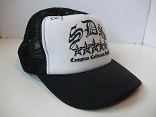 Unknown Autograph SDS Compton California USA Hat Black Snapback Trucker Cap