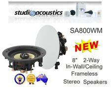 "STUDIO ACOUSTICS SA800WM 8"" 80W IN-WALL/CEILING FRAMELESS SPEAKER CONE Speakers"