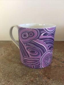 *New* Jonathan Adler Ceramic Coffee Mug- Purple Swirls- RARE