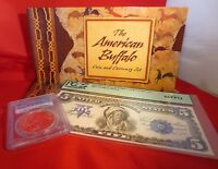 PCGS GRADED 2001 American Buffalo Coin & Currency Set - $1 Coin & Reprint Note