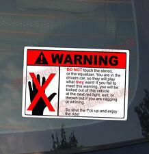 WARNING DON'T TOUCH Sticker Decal Vinyl JDM Euro Drift Lowered Drift Race